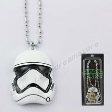 """Star Wars White Stormtrooper Mask 39cm/15.6"""" Metal Necklace New In Box"""