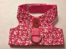 Pink/Green Floral Harness Vest Dog - XS (792)