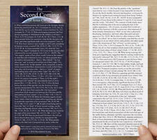 THE SECOND COMING - Topical Bible Bookmark (5 Mil Heat-Sealed Laminated!)