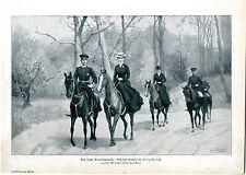 Felix Ehrlich Das junge Kronprinzenpaar Ausritt zu Pferde Gemälde Kunstdruck1905