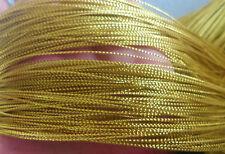 100mtr Metallic Gold Cord Macrame Kumihimo Jewellery Making 0.8mm thick