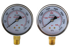 Low And High Pressure Gauges For Oxygen Regulator 25 Inches 14 Npt Pair