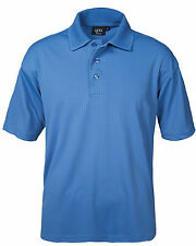 New! Men's 2X-Large AKWA 1312-DNP 100% Dry Wicking Polyester Polo French Blue