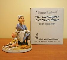 Norman Rockwell's Exasperated Nannie Nanny Saturday Evening Post Figurine in box
