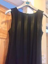 Berkertex black striped long cocktail dress - size 12 - Excellent condition