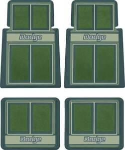 1960-1976 Dodge; Molded Carpet Floor Mat Set; Green ; 4 Piece Set