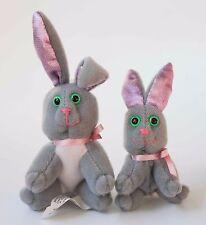 1995 Tag Along Bunny Rabbit Family by Cap Toys Miniature