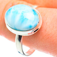 Larimar 925 Sterling Silver Ring Size 13 Ana Co Jewelry R52520F