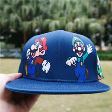 Super Mario Luigi Cartoon Baseball Cap Mens Hip Hop Adjustable Hat Snapback