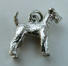 Vintage Airedale Terrier Dog Breed 3Dimensional 925 Solid Sterling Silver Charm