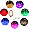 50 LED BATTERY OPERATED MICRO SILVER WIRE STRING FAIRY PARTY XMAS WEDDING LIGHT