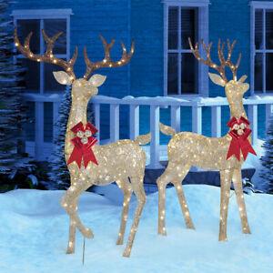 Christmas Reindeer Family - Set of 2 Bucks With 480 LED Lights Indoor/Outdoor