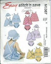 M 5367 sewing pattern Infant Baby DRESS Dresses PANTIES HAT sew sizes S,M,L,XL