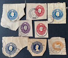 Malaya Straits Settlements Embossed Stamps from Registered Envelopes