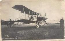 RPPC Abgeschossener engl Doppeldecker British Biplane WWI 1916 Vintage Postcard