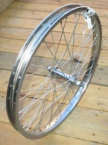 """Front Bicycle 20"""" Wheel 3/8 Axle Chrome Steel 36 Hole New"""