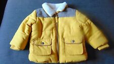 M&S Fully Lined Padded Zip Fasten Collared Jacket 3-6m 69cm Yellow Mix BNWT