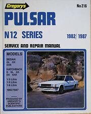NISSAN PULSAR N12 SERIES 1982-1987 SERVICE & REPAIR MANUAL Gregory's No 216
