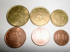 Italy Euro Cent Coins Lot- 6 Euro Cent Coins-50,20,10,5,2 &1- Full Range-2002#2
