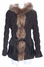 MILESTONE Felljacke bronzefarben Steppmuster Casual-Look Damen Gr. DE 40 Jacke