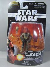 C-3PO Saga Collection #17 w/ Interchangeable Droid Head NEW Star Wars Toy Figure
