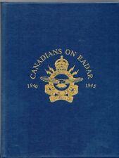 CANADIANS ON RADAR Royal Canadian Air Force RCAF WW2 1940-1945 Canada