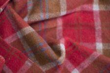 Vintage Australian 100% pure wool Blanket Maroon tones Double Twin 1970s retro