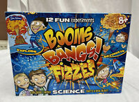 John Adams BOOMS BANGS FIZZES Science KIT 12 Fun Experiments Opened But Complete