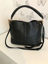 Topshop Large black hobo bag with crossbody strap