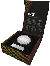 2021 Australia AC/DC 1 oz Silver Frosted $1 Coin GEM BU OGP