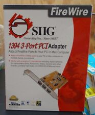 SIIG FIRE WIRE 1394 3 PORT PCI ADAPTER ADDS 3 FIRE WIRE PORTS
