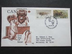 Canada first day cover, Marg Cachet, 883 Endangered species