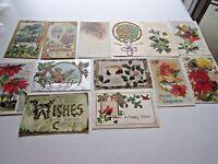 Christmas Postcards Postmarked 1910 - 1914 Lot of 13 Asst. Vintage