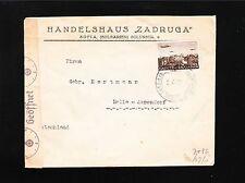 Germany Censor Vienna Handelshaus Zadruga Bulgaria to Germany 1941 Cover 3t