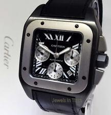 Cartier Santos 100 XL Chronograph Carbon Titanium Steel Watch W2020005