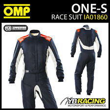 IA01860 traje de carreras OMP ONE-S Profesional incombustible Racing Rally FIA 8856-2018