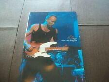 Sting Original Sacred Love 2004 World Tour Concert Program Photo Book Police