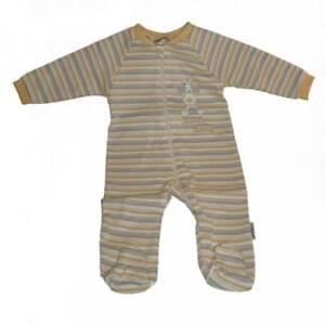 """Baby Strampler Baby Schlafanzug  """"Reindeer"""" ringel gelb Jacky 56-62"""