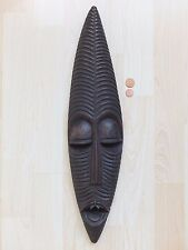 Vintage African Incubus Demon Mask Red Wood CREEPY RARE! Genuine Mahogany