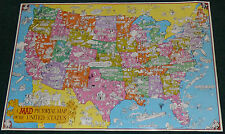 MAD MAGAZINE ORIGINAL 1981 PICTORIAL MAP OF THE UNITED STATES SERGIO ARAGONES