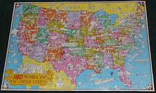 MAD MAGAZINE ORIGINAL 1981 PICTORIAL MAP OF THE UNITED STATES SERGIO ARAGONES