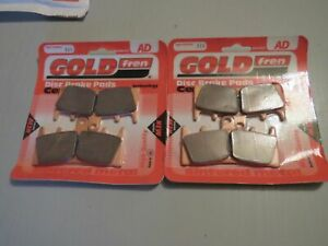 FRONT BRAKE DISC PADS TO FIT SUZUKI GSF1200 BANDIT 2001 TO 2005 GOLD FREN HH