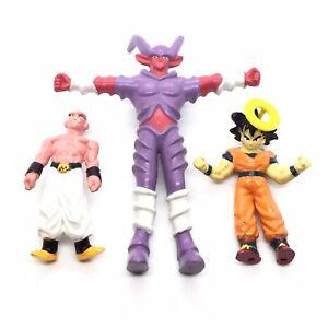 Bandai 1989 Dragon Ball Z Goku Majin Buu Vintage Action Figure Bundle Anime Toy