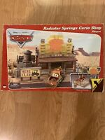Disney Pixar Cars Radiator Springs Curio Shop playset, nearly new in open box
