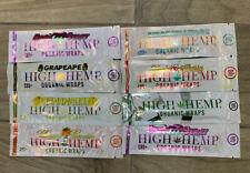 VARIETY PACK 15 PACKS 30 PAPERS HIGH HEMP ORGANIC WRAPS BERRY MANGO GRAPE HONEY