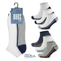 3 PAIRS Mens TRAINER SOCKS Adults Sports Running Gym Liner Ankle Sock Size 7-11