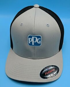 PPG INDUSTRIES hat flexfit fitted gray / black cap - size S / M