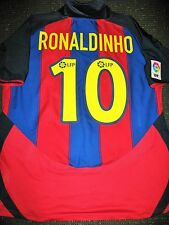 Authentic Ronaldinho Barcelona Jersey DEBUT 2003 - 2004 Shirt Camiseta L
