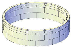Isolationsschutz 104 cm hoch für Pool rund 500 x 120 cm Druckschutz Wärmeschutz