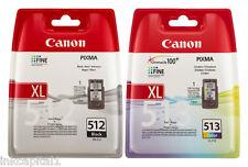 PG-512 & CL-513 ORIGINAL OEM A GETTO D'INCHIOSTRO A CARTUCCE PER CANON MX360, MX 360